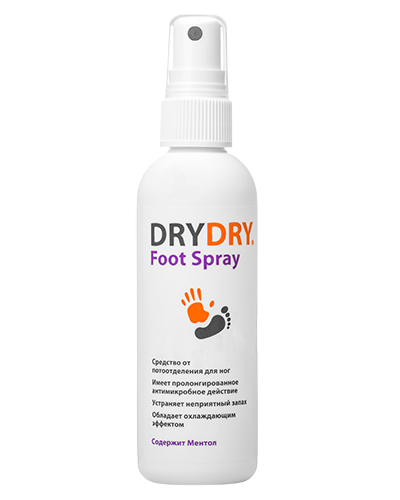 dry dry foot spray