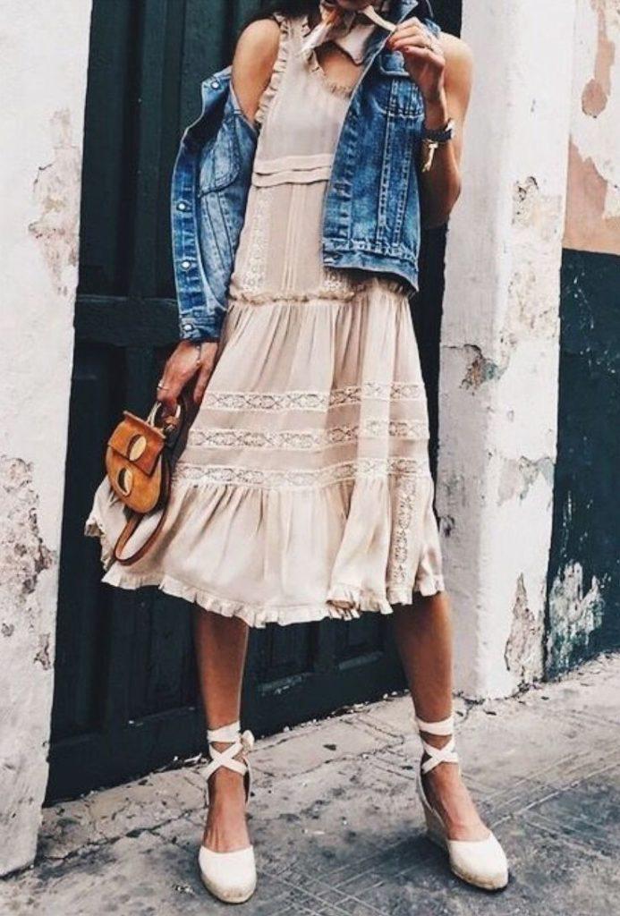 платье и эспадрильи