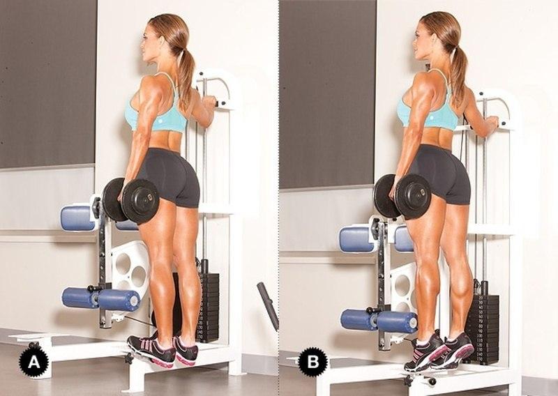 девушка тренирует мышцы ног