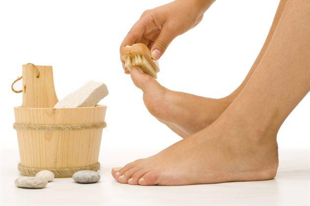 массаж щеткой перед ванночкой