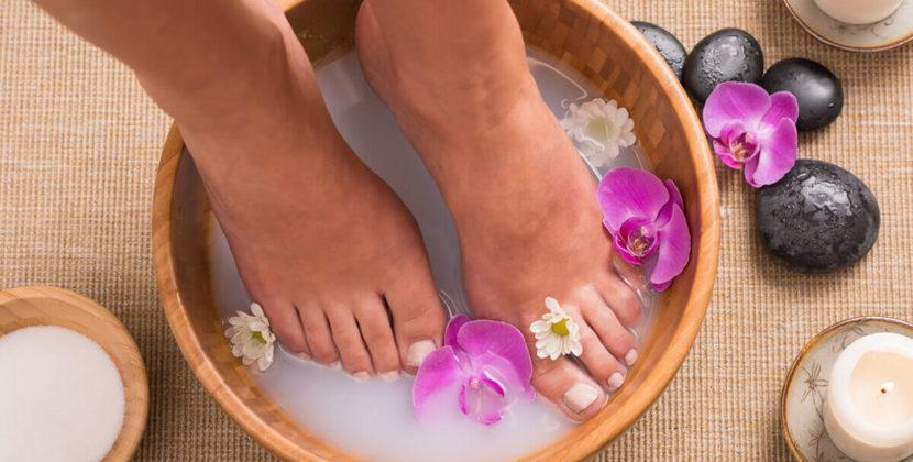 Ванночки для ног в жару