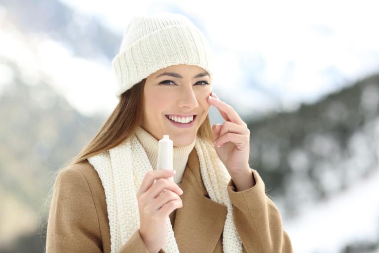 Красота кожи лица зимой